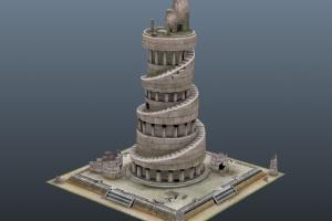 ゲーム用3D背景制作